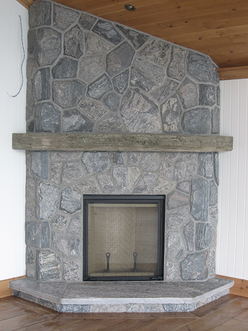 Renaissance rumford wood burning fireplace with 5 point for Rumford fireplace insert