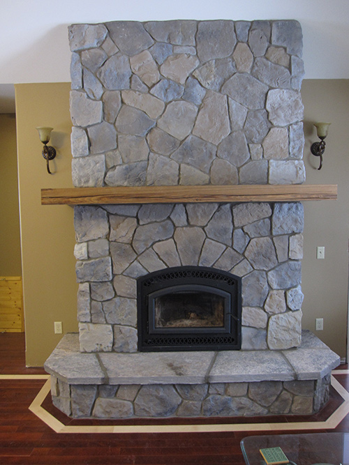 Bis tradition CE wood burning fireplace with cultured stone ...