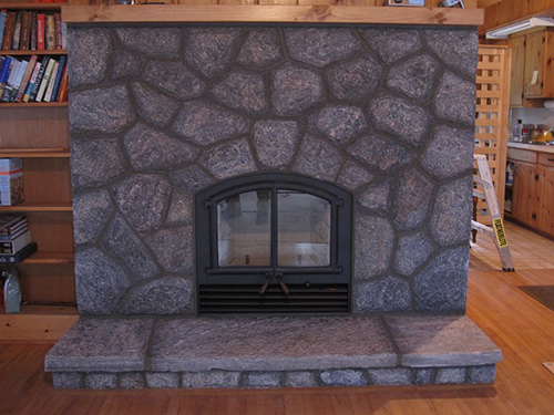 Rsf Opel Wood Burning Fireplace With 5 Point Granite Stone